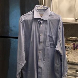 Michael Kors button down blue shirt new size XL